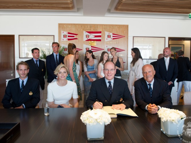 HSH the Sovereign Prince Albert II inaugurating new Yacht Club de Monaco premises