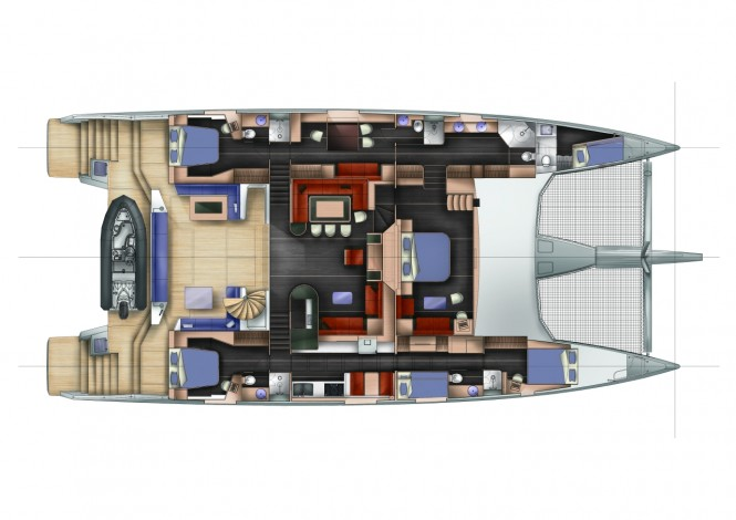 Long Island 85 Yacht WindQuest - General Arrangement