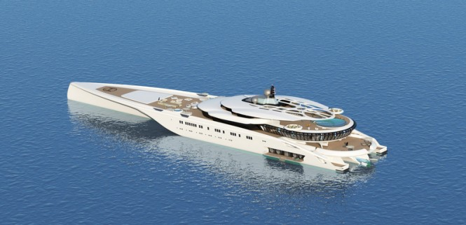 Luxury mega yacht Assina concept