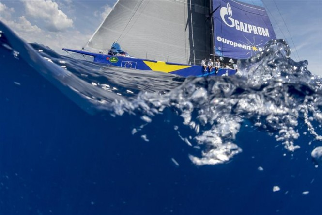 Luxury sailing yacht ESIMIT EUROPA 2 (SLO) sailing her last miles to Monaco - Photo by Rolex Carlo Borlenghi
