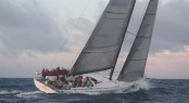 Luxury sailing yacht Shockwave at the 2014 Newport Bermuda Race - Photo credit to Barry Pickthall