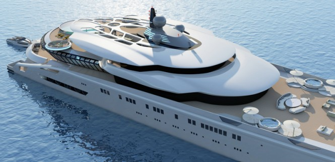 Luxury yacht Assina concept