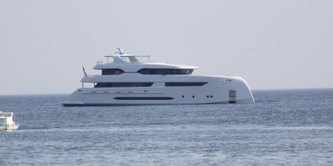 Luxury yacht ELADA on the water