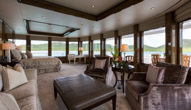 Luxury yacht INVICTUS - Master Stateroom - Photo by Jeff Brown