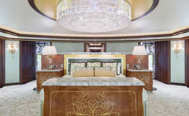 Luxury yacht Solandge - Owners Suite - Photo by Klaus Jordan