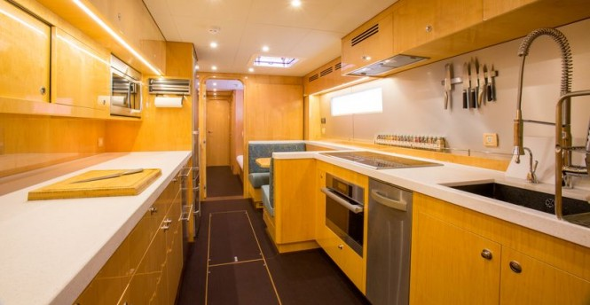 Luxury yacht WindQuest - Galley