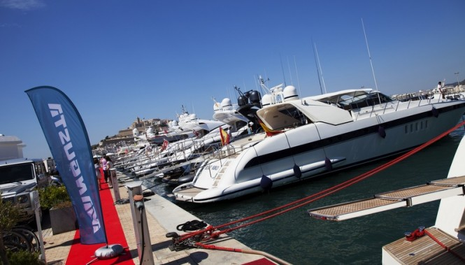Mangusta yachts on display during the event