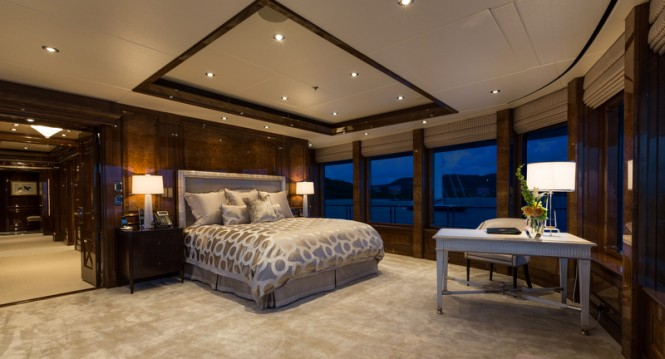 Mega yacht INVICTUS - Master Stateroom - Photo by Jeff Brown