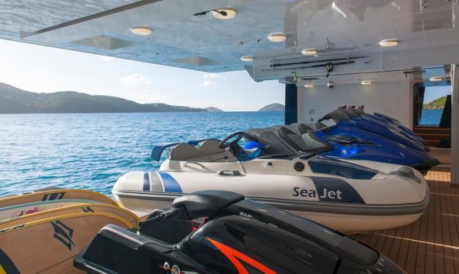 Motor yacht Solandge - Tender garage - Photo by Klaus Jordan