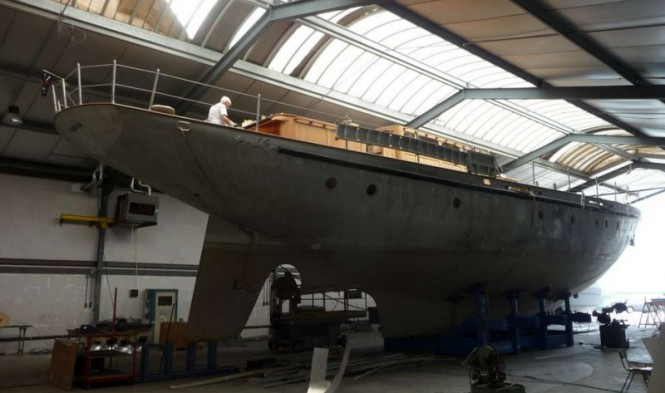 Neorion Yacht at the start of construction - Photo by Olivier van Meer Design BV