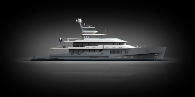 New 50m explorer yacht 'yard number 1016' by McMullen and Wing - Image courtesy of McMullen & Wing