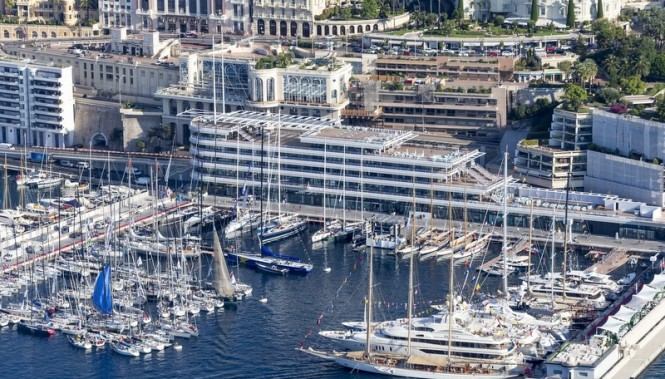 New Yacht Club de Monaco Premises from above - Image credit to Carlo Borlenghi