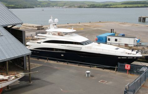 Princess superyacht manufacturing facilities