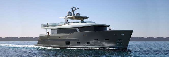 Rendering of Nauta Air 86 superyacht