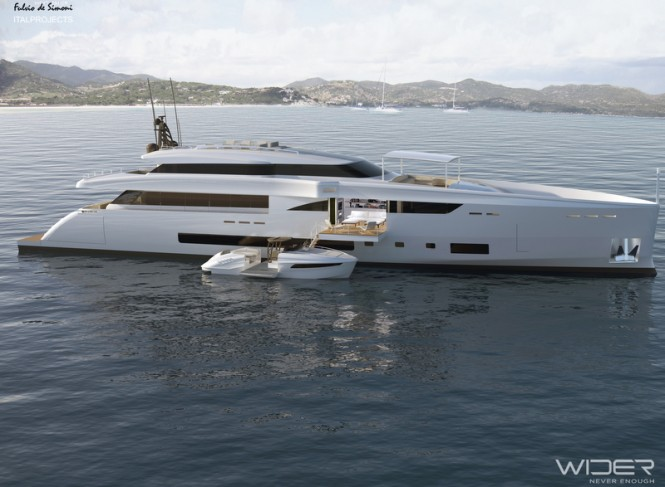 Rendering of superyacht WIDER 150'