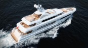 Rendering of the new Sunrise 45m superyacht Sunset (hull 182)