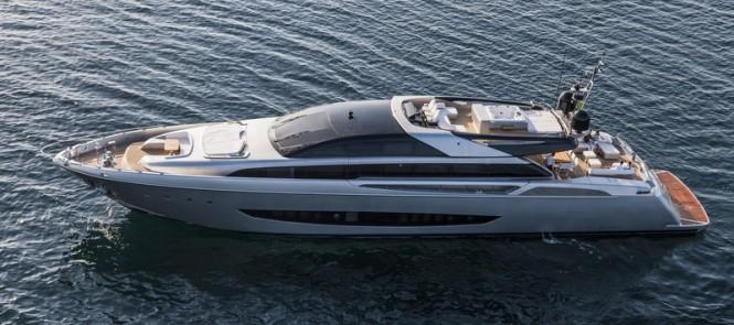 Riva 122 superyacht Mythos - Photo by Alberto Cocchi
