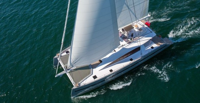 Sailing catamaran WindQuest - upview