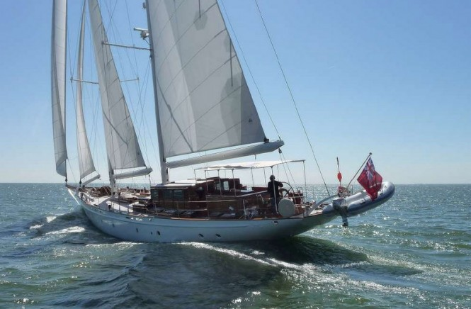 Sailing yacht Neorion under her first sea trial - Photo credit to Olivier van Meer Design BV