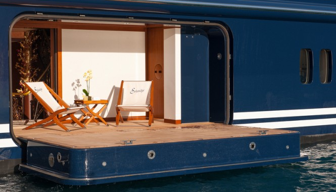 Solandge superyacht - Sea terrace - Photo by Klaus Jordan