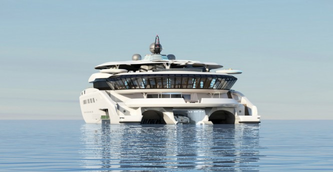 Super yacht Assina concept - aft view