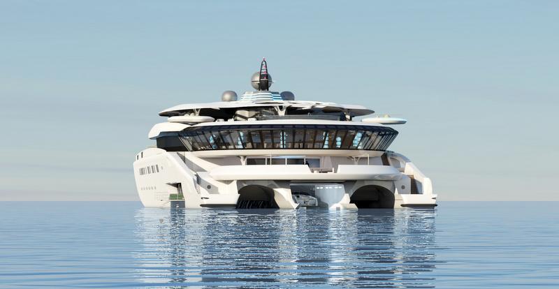 Super yacht Assina concept - aft view