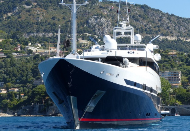 Super yacht Double Trouble - front view