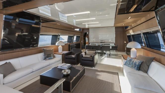 Super yacht Mythos - Saloon - Photo by Alberto Cocchi