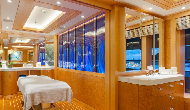 Super yacht Solandge - Spa - Photo by Klaus Jordan