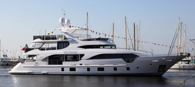 Superyacht My Paradis on the water
