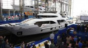 Tradition Supreme 108 motor yacht MY PARADIS (BK001) at launch