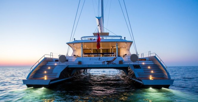 WindQuest superyacht - aft view