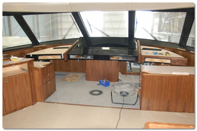 Works on Viking 92 Enclosed Bridge Covertible Yacht