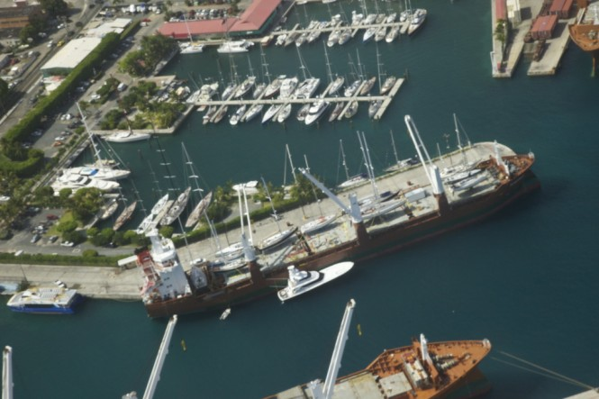 Yacht carriers - US Virgin Islands - Photo credit to St Thomas Cargo