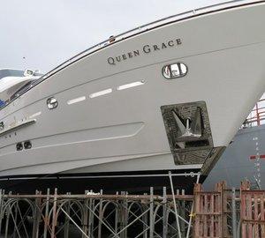 Re-launch of 105ft Horizon motor yacht QUEEN GRACE