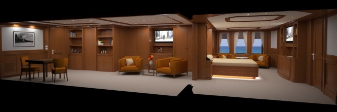 135ft JFA superyacht - Owners Cabin