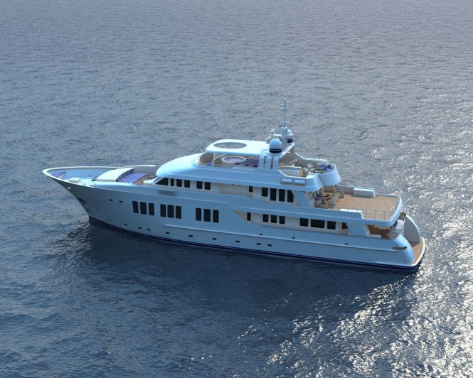 135ft JFA superyacht from above