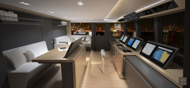 164' JFA luxury yacht project - Wheelhouse