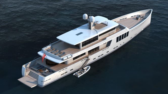164' JFA superyacht project from above