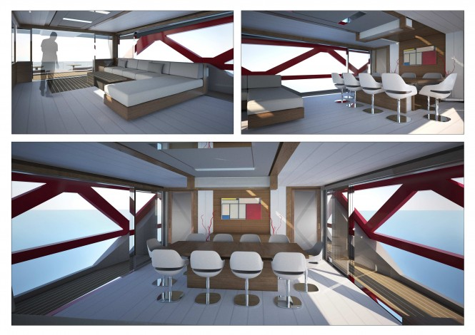 35m A-Sign motor yacht concept - Interior