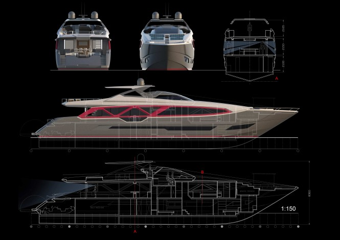 35m A-Sign super yacht concept