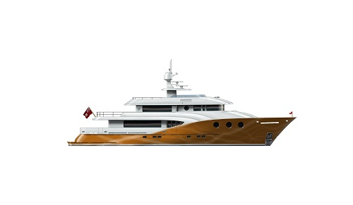 Boksa 38M Yacht Design - Orange Hull