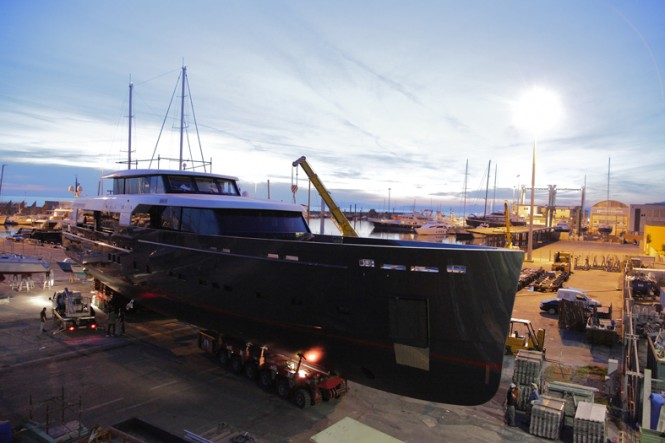 45m superyacht My Logica at launch
