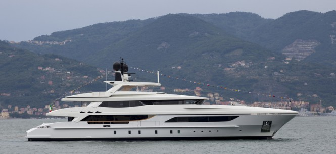 46m displacement super yacht Hull 10216 by Baglietto