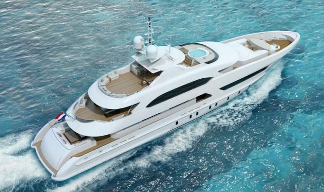 47m motor yacht Project Hé (YN 16947)