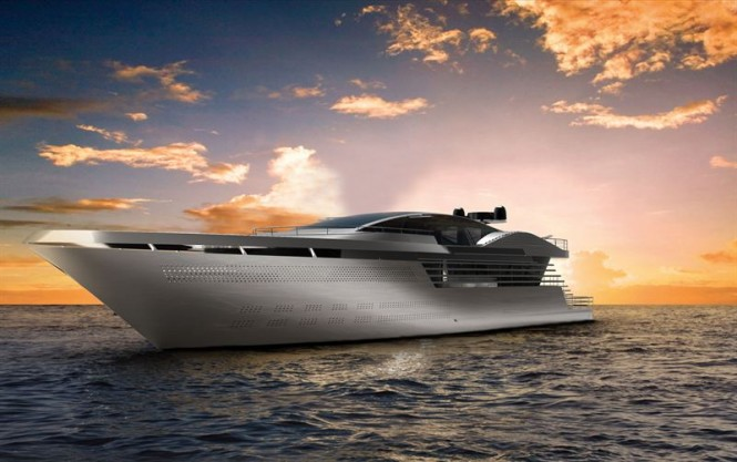 65m Atlantic superyacht concept by Raphael Laloux