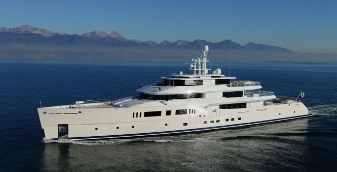 73m Picchiotti motor yacht GRACE E (hull C.2189) to be displayed by Perini Navi at MYS 2014