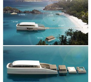 Latest 77m Parkour Class motor yacht X R-EVOLUTION project by Pastrovich