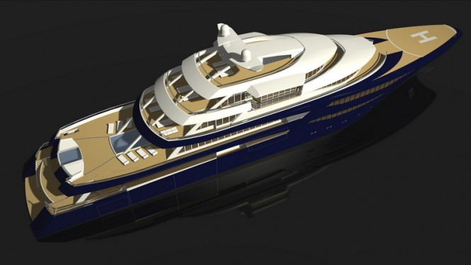 85m (280') mega yacht NVC 85Y designed and powered by Rolls-Royce Marine