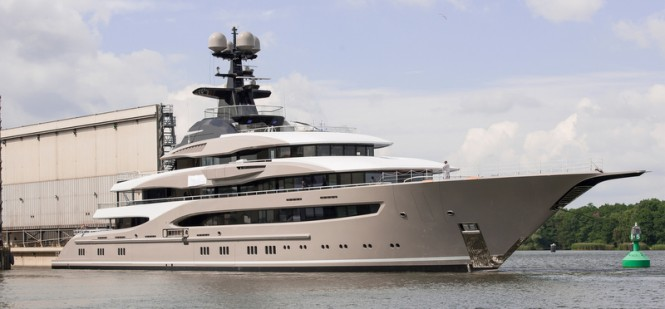 95m Lurssen superyacht Kismet (Project Global) - Photo by Klaus Jordan